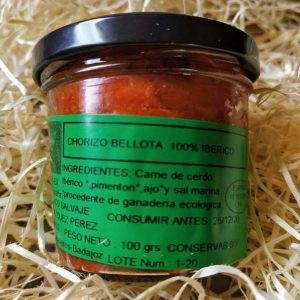 Crema de Montanera. Paté de Chorizo de Cerdo de Bellota 100% Ibérico