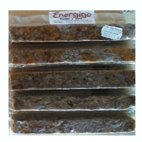 Barritas de higo seco con chocolate y almendras