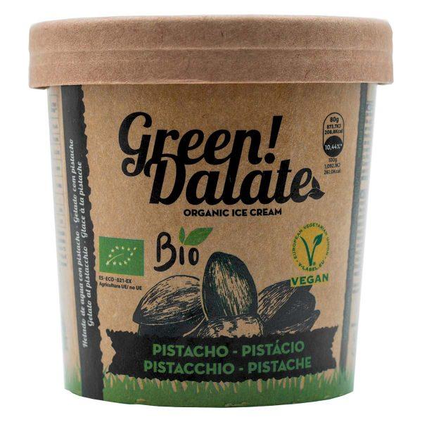 Helado Eco de pistacho Green Dalate Vegano Sin gluten Sin lactosa VEgano